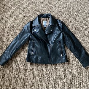 Adorable faux leather jacket